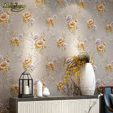 beibehang papel de parede pink yellow purple blue modern flower