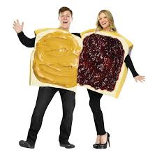 party city couples halloween costumes peanut butter and jelly couple costume buycostumes com