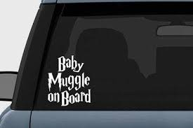 hogwarts alumni bumper sticker harry potter baby muggle on board vinyl decal sticker