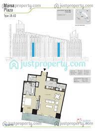 marsa plaza 1br floor plans justproperty com