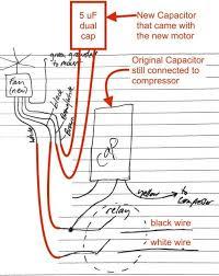 ac fan motor capacitor wiring diagram ac contactor wiring diagram