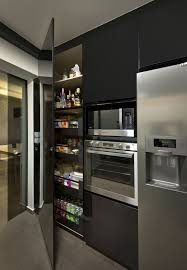 Minimalist Kitchen Cabinets by Cabinets U0026 Storages Black Masculine Sleek Glossy Kitchen Cabinet