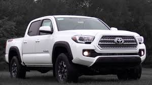 white toyota truck 2017 toyota tacoma trd off road review youtube