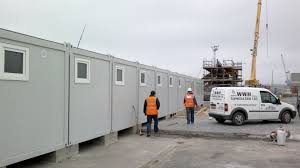 industrial container construction for construction sites for