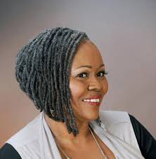photo gallery of short hairstyles for black women with gray hair