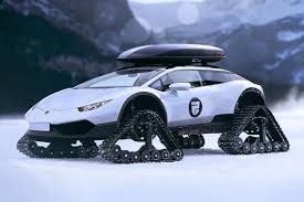 blue galaxy lamborghini this lamborghini huracan snowmobile is the most luxurious snow