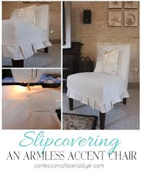 armless accent chair slipcover slipcovering an armless accent chair confessions of a serial do it