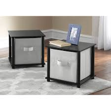 side table set of 2 mainstays no tools 2 x 1 cube multiple colors walmart com