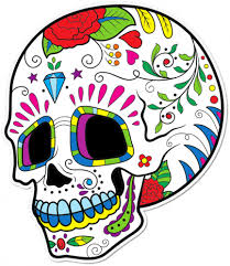 buy sugar skull flower cheeks printed sticker stickerart com au