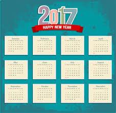 vector monthly calendar planner 2017 free vector download 1 765