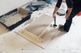 diy concrete table top homemade modern diy ep15 concrete wood coffee table step 6