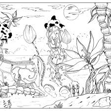 free printable coloring pages for adults landscapes coloring pagess mountains free printables for kids fearsome alien