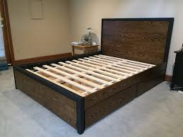 homemade modern oak bedframe album on imgur