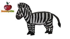 how to draw a zebra for kids youtube