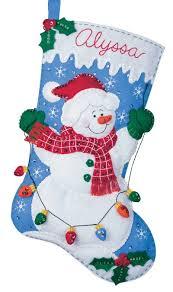 snowman with lights bucilla kit