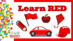 learn the color red preschool and toddler learning learn