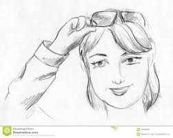 woman face pencil sketch stock illustration image 49323934