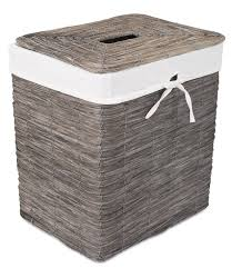 wicker laundry hampers birdrock home rustic woven wood peel laundry hamper with lid