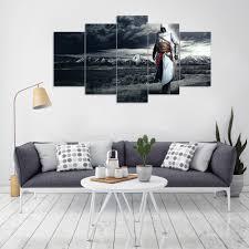 aliexpress com buy hd print 5 panels canvas art altair clouds
