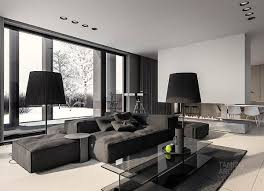 Cool Home Interiors by A Single Family Home Interior In Cool Shades Of Gray Living Room