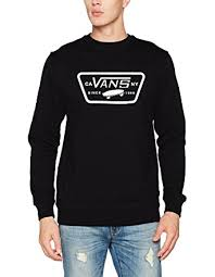 vans sweater vans patch crew sweater at amazon s clothing store