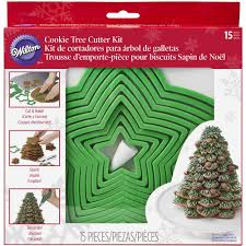 wilton gingerbread christmas tree cookie cutter set 15 pc