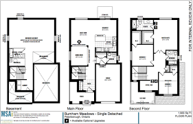 Single Family House Floor Plans by Single Family Homes Safe Harbour Developments Inc