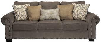 Transitional Sofas Furniture Transitional Sofa With Nailhead Trim U0026 Coil Seating By Benchcraft