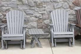 Gliding Adirondack Chairs Polywood Furniture King U0027s Impressions