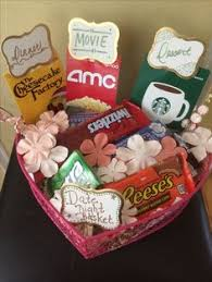 date gift basket ideas what a sweet idea a gift basket with things for a date in