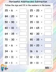 subtraction u2013 grade 2 math worksheets