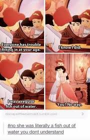 Little Mermaid Memes - ariel cheering up her daughter with a story about herself in