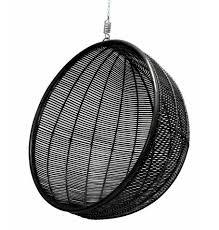 Rattan Hammock Chair Hk Living Hanging Chair Rattan Ball Black 108cm Lefliving Com