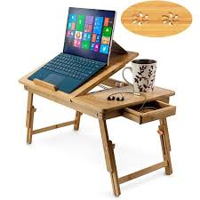 Computer Desk Tray Zimtown Nature Bamboo Folding Laptop Computer Notebook Table Bed