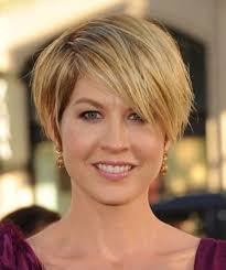 short hairstyles for women with round faces and thick hair womens