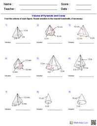 prisms and cylinders volume worksheets math aids com pinterest