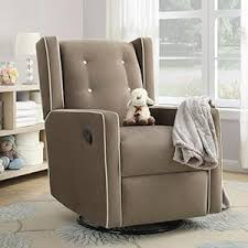 amazon com baby relax mikayla upholstered swivel gliding recliner