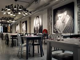 interior industrial restaurant interior design come with wall
