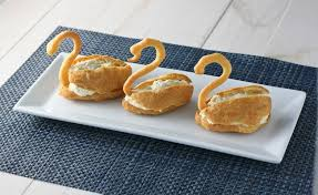 cuisine choux pate a choux swans with vanilla creme patisserie