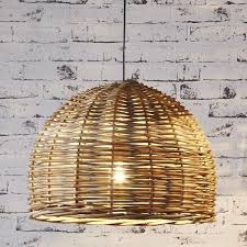 Wicker Pendant Light Pendant Light Dome Wicker Lighting Collective