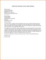Data Entry Resume Best Solutions Of Data Entry Operator Cover Letter On Sample