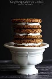 gingersnap cookies sandwiches gluten free vegan dairy free