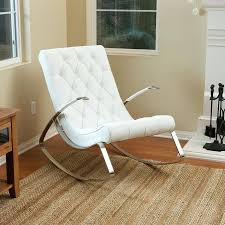 reclining rocking chair for nursery image of white modern rocking