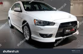 lancer mitsubishi 2012 guangzhou china dec 1gac mitsubishi lancer stock photo 122079400