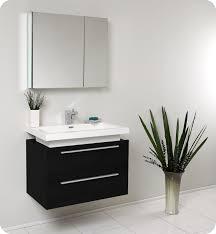 Bathroom Storage Cabinets Wall Mount Fresca Medio Black Modern Bathroom Vanity And Medicine Cabinet