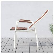Ikea Recliner Chair Vindalsö Reclining Chair Outdoor White Brown Stained Ikea