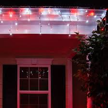 cool white icicle lights led christmas lights 70 5mm red cool white led icicle lights