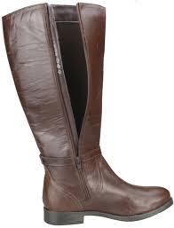 biker riding boots ladies real leather knee high low heel flat zip biker riding style