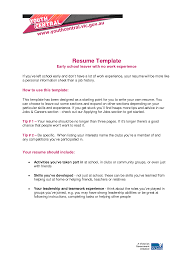 high school student resume templates no work experience resume for highschool student with no experience high school