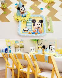 1st Birthday Party Ideas Decoration Creative Mickey Mouse 1st Birthday Party Ideas Free Printables